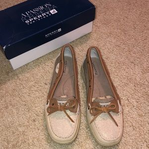 NWT Sperry Angelfish Boat Shoes Sparkle